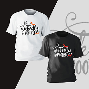 Wickedly Bootiful Halloween T-Shirt Horror Funny Present Gift Kids Unisex Mens