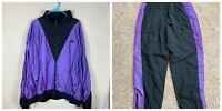 Mens XL/2XL Nike Flight VTG 90s Purple Black Color Changing 2 Piece Track Suit