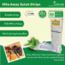 More details for maqs (mite away quick strips) varroa mite treatment beekeeping exp: 01/2022