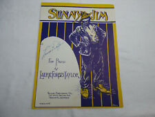 "Vintage Sheet Music for Piano SIGNED by Laurie Forbes Taylor ""Sunny Jim"""