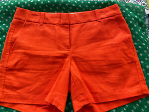 J CREW Shorts Women's Orange Cotton Casual Shorts Chino Sz 2