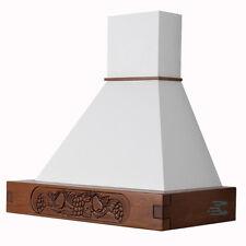 Cappa FRUTTA L 90 cucina rustica in legno noce scuro bianco motore CL90-NSBB52