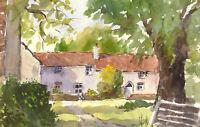John A. Case - 20th Century Watercolour, Sunny Cottages