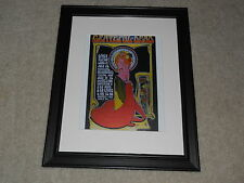"Framed Grateful Dead Daily Flash 1967 Mini-Poster Dante's Inferno 14""x17"""