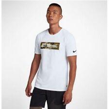 Nike Dri-Fit Men's Camo Training T-Shirt Xl White Casual Gym Running