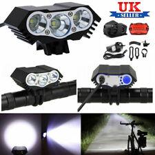 3 x CREE XM-L T6 LED Bicycle Bike HeadLight Head Light Lamp Torch Flashlight UK
