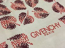 "Vintage GIVENCHY Paris Floral SILVER Gray Fall Pastel Brown 100% Silk Scarf 22"""