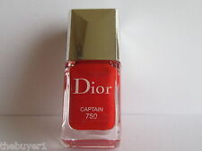 Christian Dior Vernis Nail Polish # 750 CAPTAIN  - cap slightly scratched