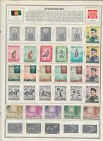 AFGHANISTAN: 156 MOSTLY MINT STAMPS ON HARRIS AND OTHER ALBUM PAGES.