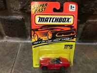 VINTAGE MATCHBOX SUPERFAST RED VIPER RT/10 #10 1994 NEW FREE SHIPPING
