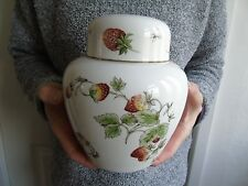 Large Coalport Srawberry Smooth Ginger Jar & Cover 7""