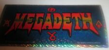 Megadeth Sticker New Early 2000'S Vintage Oop Rare Collectible