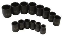 Sunex 2678 14-piece 1/2 In. Drive 12-point Standard Fractional Sae Impact Socket