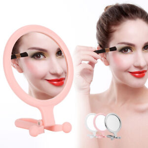 Folding 10X Magnifying Glass Mirror Small Makeup Cosmetic Mirror Travel Outdoor