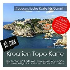 Kroatien Topo Karte 10m Höhenlinien 4GB microSD für Garmin Navi, PC & MAC