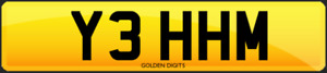 Y3 HHM PRIVATE CHERISHED PERSONALISED REG REGISTRATION NUMBER PLATE 5 DIGITS
