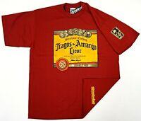 STREETWISE TRAGOS AMARGOS T-shirt Urban Streetwear Tee Men XL-4XL Burgundy NWT