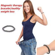 Biomagnetism Magnetic Round Black Stone Magnetic Bracelet Health Care Bracelet