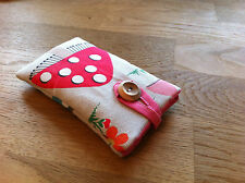 iPhone 5 / 5S / 5C / SE Fabric Padded Case Cover - Cath Kidston Mushroom