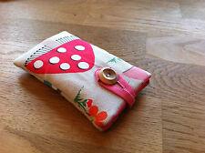 Handmade With Cath Kidston Mushroom Fabric - iPhone 6 / 6 Plus Padded Case