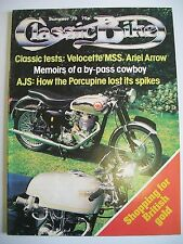 Classic Bike Magazine. Issue No. 2. Summer, 1978. Reprint. Velocette MSS. AJS.