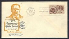 Canal Zone 1958 Theodore Roosevelt On Fdc