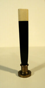"""UNUSUAL 19th C. ANTIQUE 3.25"""" WAX SEAL / DOCUMENT STAMP, ONYX HANDLE"""