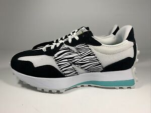 Brand New Women's New Balance 327 White Black Teal size 7 WS327SP1 Zebra Made In