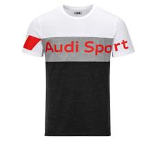 Audi Sport Herren T-Shirt grau / weiß Gr. S, M, L, XL, XXL, XXXL