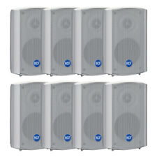 8x RCF Monitor Background Speaker White Outdoor Use IP55 Sound System