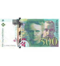 FRANCE, PIERRE ET MARIE CURIE - 500 FRANCS 1994 - SÉRIES VARIÉES - TB+