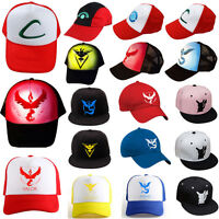 Women Men Baseball Cap Cartoon Team Mystic Summer Sun Sports Cosplay Flat Hats