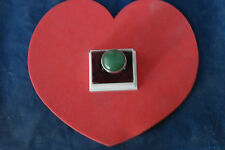 Beautiful 925 Silver Ring With  Jade Gemstone 11.7 Gr.2.2 Cm.Wide In Box