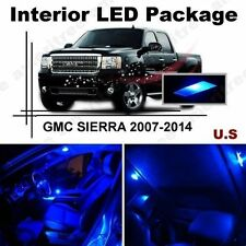 Blue LED Lights Interior Package Kit for GMC Sierra 07-14 ( 8 Pieces )