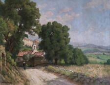 """Gaston Prost  """" La chapelle de Séguret"""" Huile sur toile. v 436"""