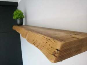 Live Edge- Thick- Floating Shelf- Wax Finish-Brackets Included-Rustic Pine Float