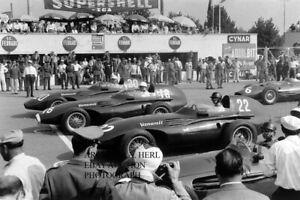 Vanwall 1957 Italian Grand Prix Stirling Moss Fangio Maserati 250F photo photo