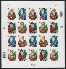 Santa Claus Booklet Pane of Twenty 34 Cent Postage Stamps Scott 3537-40
