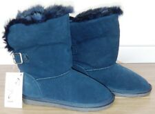 BNWT GIRLS NEXT NAVY BLUE SUEDE BOOTS UK 13 NEW WINTER CHRISTMAS SCHOOL SHOES