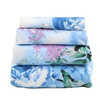 Beautiful Bedding Super Soft Egyptian Comfort Sheet Set Blue Lavender Floral