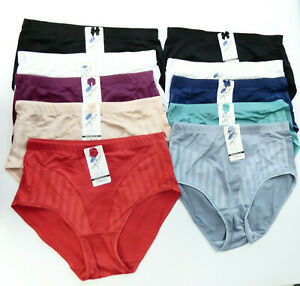 10 Stück Damen Slips Schlüpfer Pants Unterwäsche Unterhosen 531 Übergröße Farben