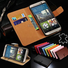 Leather Matte Mobile Phone Wallet Cases for HTC