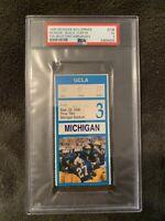 Tom Brady Michigan Debut Ticket 9/28/96 vs UCLA - PSA Authenticated - Slabbed