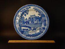 Rare Antique John Rogers Blue White Transfer Camel Pattern Plate Circa 1820