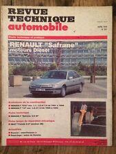 Revue Technique Automobile RENAULT Safrane moteurs Diesel