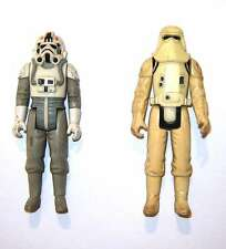 Star Wars - 2 two figurines At At Driver Snow Trooper LFL 1980