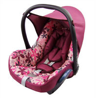 bambiniwelt Extra Bed Linen 6tlg. Maxi-Cosi Cabrio Fix Carry Cot Burgundy
