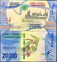 MADAGASCAR 20000 20,000 ARIARY 2017 P 104 UNC