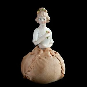 Vintage Porcelain Half Doll Pin Cushion Germany