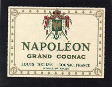 COGNAC VIEILLE LITHOGRAPHIE NAPOLEON GRAND COGNAC LOUIS DELLYS  §13/09§